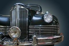 Ancient luxury black car Stock Photo