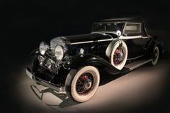Ancient luxury black car Stock Image