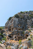 Ancient  lycian city graves Stock Photography