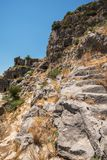 Ancient lycian Myra rock tomb. Ruins at Turkey Demre Stock Image