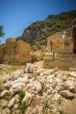 Ancient lycian Myra ruins at Turkey Demre Royalty Free Stock Images