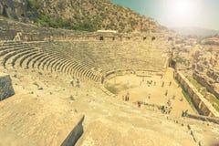 Ancient lycian Myra ruins at Turkey Demre Stock Images
