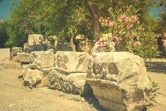 Ancient lycian Myra ruins at Turkey Demre Stock Image
