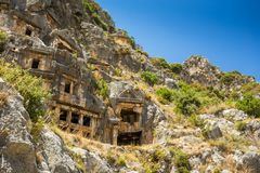 Ancient lycian Myra ruins at Turkey Demre Royalty Free Stock Photo