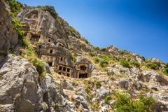 Ancient lycian Myra ruins at Turkey Demre Stock Images