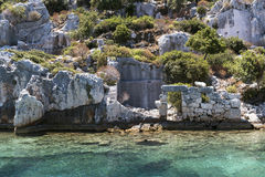 Ancient lycian ruins Royalty Free Stock Images