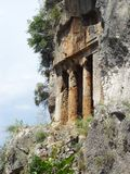 Ancient Lycian tomb near the city of Fethiye. Turkey Royalty Free Stock Image
