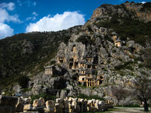 The ancient lycian tombs Stock Images