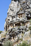 Ancient Lycian tombs in Myra Stock Photos