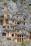Ancient lycian tombs in Myra, Turkey Stock Image