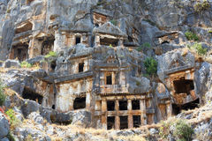 Ancient lycian tombs Royalty Free Stock Photography