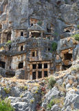 Ancient lycian tombs Royalty Free Stock Images