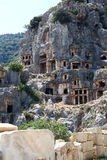 Ancient lycian tombs Royalty Free Stock Image