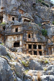 Ancient lycian tombs Royalty Free Stock Photos