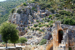 Ancient lycian tombs Stock Photos