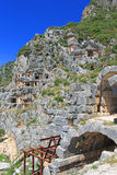 Ancient lycian tombs, Turkey Stock Image