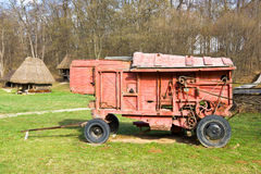 Old threshing machine Stock Image