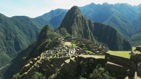Ancient machu picchu on a sunny morning