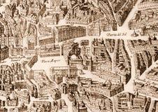 Ancient Madrid city map