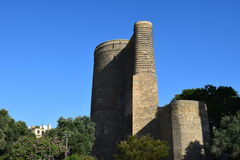 Hystorical architecture,The ancient Maiden`s tower royalty free stock image