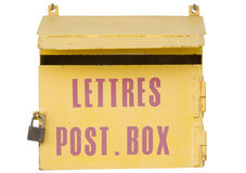 Ancient mailbox in france Stock Image