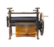 Ancient making rubber sheet Royalty Free Stock Photo