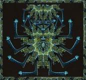 Ancient Man Scuplture Illustration Royalty Free Stock Images