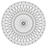 Ancient mandala coloring page for adults on Royalty Free Stock Photo