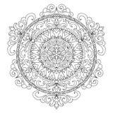 Ancient mandala coloring page Royalty Free Stock Photo