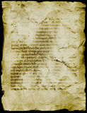 Ancient Manuscript. Age stained parchment burnt and wrinkled Royalty Free Stock Photography