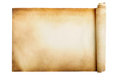 Ancient manuscript. Isolated over a white background Royalty Free Stock Photos
