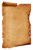 Ancient manuscript isolated. Over a white background royalty free stock photography
