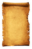 Ancient manuscript isolated. Over a white background stock images