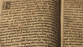 Ancient manuscript reading Royalty Free Stock Photography