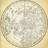 Ancient map. (1746) of the northern hemisphere Royalty Free Stock Photo