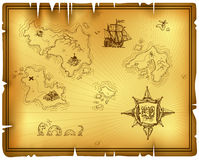 Ancient map Stock Image