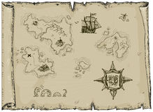 Ancient map stock illustration