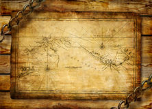 Ancient map Royalty Free Stock Photo