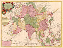 Ancient map of Asia Royalty Free Stock Photography