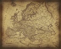 Ancient map of Europe Stock Photos