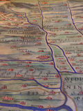 Ancient Map of Lombardy with Milan Stock Photos