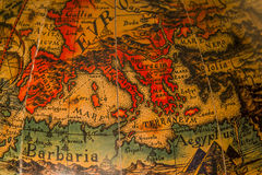 Ancient map of the Mediterranean Sea Stock Photo