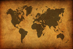 Ancient map of the world Stock Images