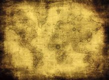 Ancient map of the world stock illustration
