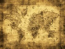Ancient map of the world Stock Photography