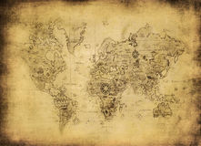 Ancient map of the world Stock Image