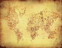 Ancient map of the world Royalty Free Stock Photography