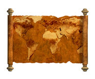 Ancient map of the world Royalty Free Stock Photo
