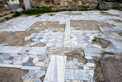 Ancient marbel floors in Salamis Royalty Free Stock Photography