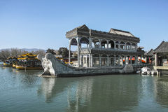 Ancient marble Boat Royalty Free Stock Photos